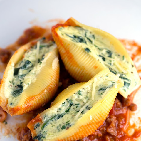 Cheese Stuffed Shells with Italian Sausage Sauce
