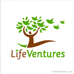 Life Ventures Logo of a person with arms as branches
