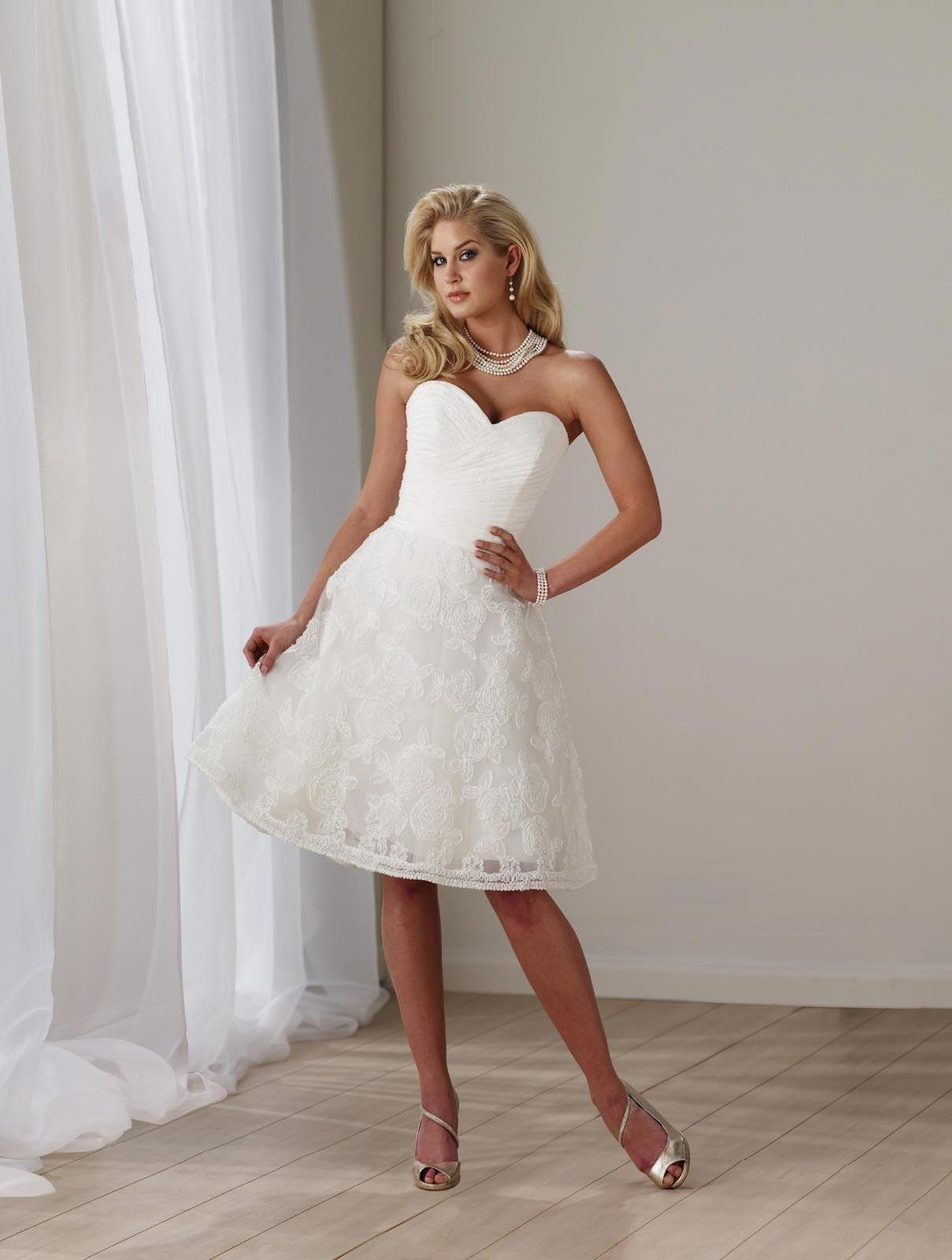 Short Wedding Dress Ivory Lace