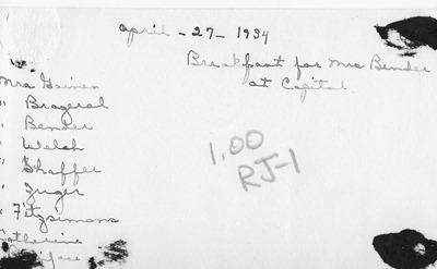 Women 1934 Moorhead antback