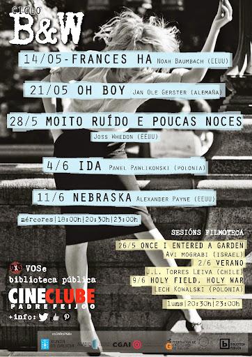 cartaz programación maio-xuño 2014 · cineclubePF