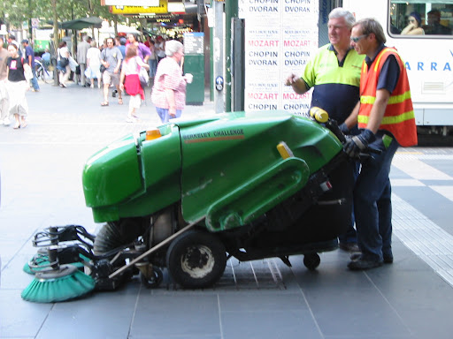Melbourne street sweepers