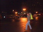 """Tony practices the cone toss for distance...this is a symptom of what we know as """"10 beer Tony"""""""