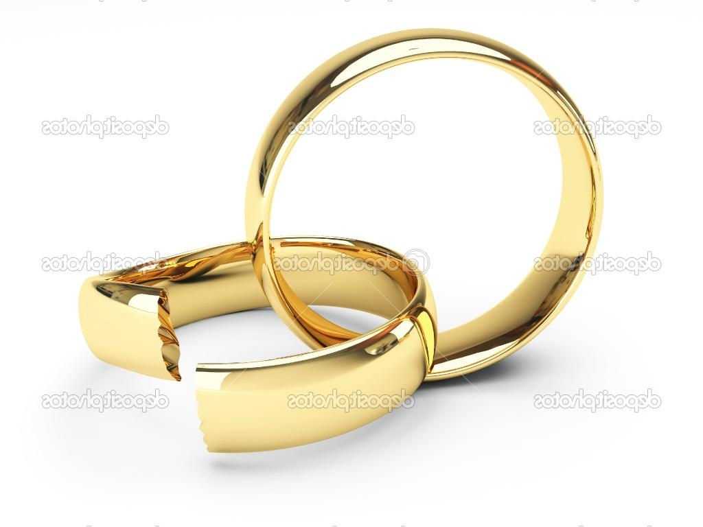 Isolated broken gold wedding