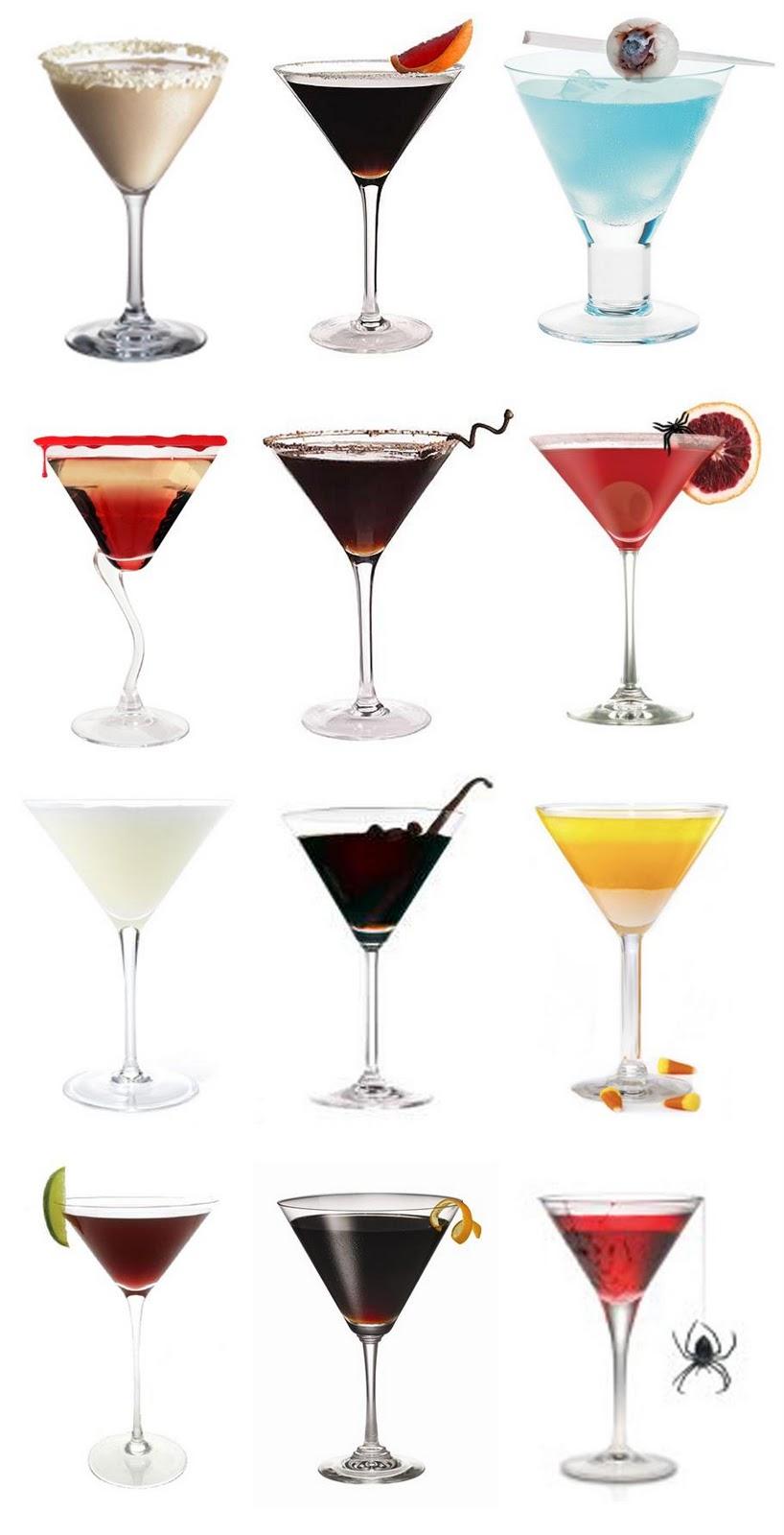Halloween Wedding Martinis