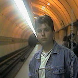 bart in the subway in Prague, Prague - the Capital (Praha - hlavni mesto), Czech Republic
