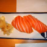 salmon sushi in Osaka, Osaka, Japan