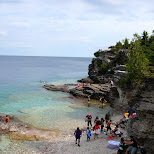 Indian Head Cove in Tobermory, Ontario, Canada