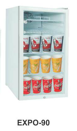 Mesin Pendingin Minuman 1 Pintu (Display Cooler) Kapasitas 90 Liter  : EXPO-90