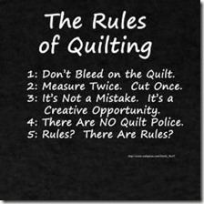 rules of quilting