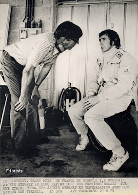 Кен Тиррелл и Джеки Стюарт на Гран-при Франции 1973