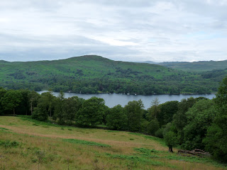 A first view of Coniston Water as I leave the woods. The Beacon on Blawith Fells is on the other side of the water.