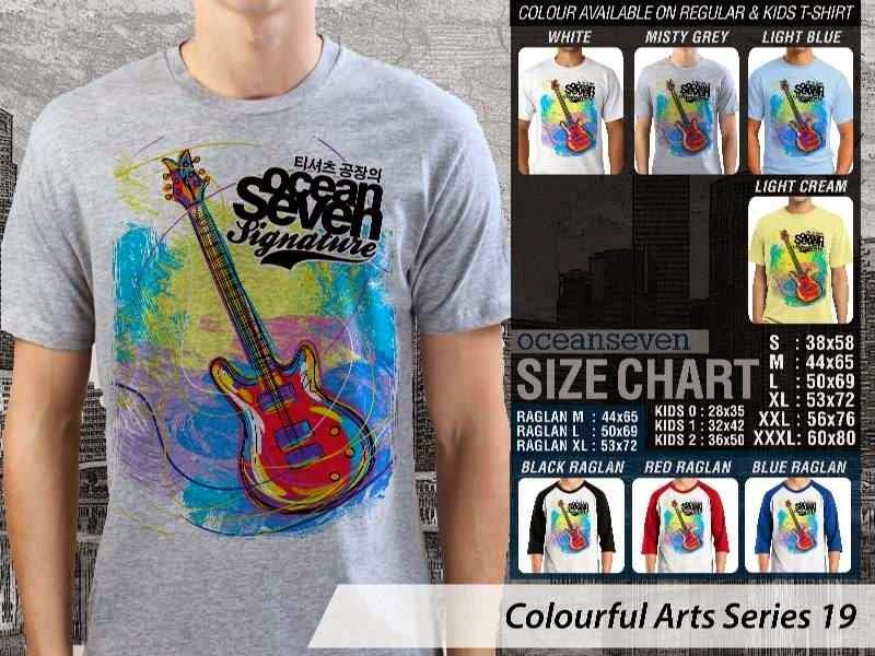 KAOS keren Colourful Arts Series 19 gitar guitarist | KAOS Colourful Arts Series 19 distro ocean seven