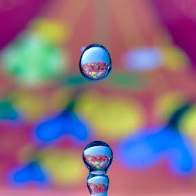2 droplets by Sefanya Dirgagunarsa - Abstract Water Drops & Splashes ( water, drops )