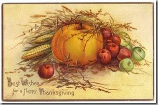 vintage pumpkin postcard