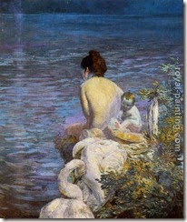 50498-Besnard, Paul Albert-Bather with Child and Swan by the Sea