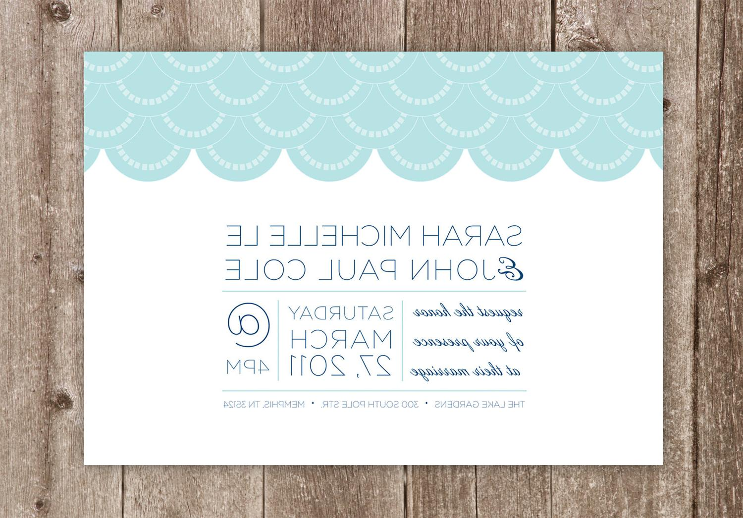 Printable Wedding Invitations: