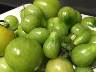 gröna tomater marmelad vanilj