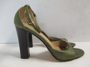 Green Gucci Sandals