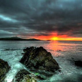 Stormy Sunrise by Jong Onilcny - Landscapes Waterscapes