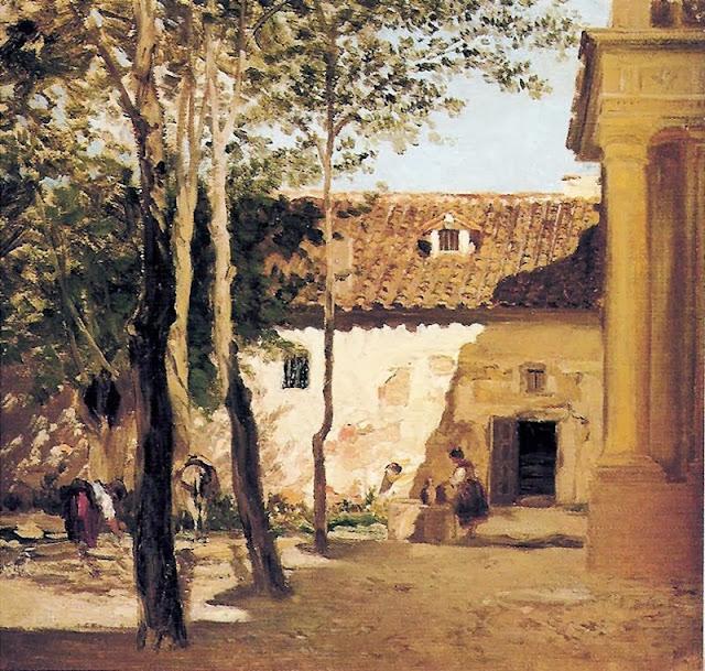 Carlos de Haes - Patio del monasterio