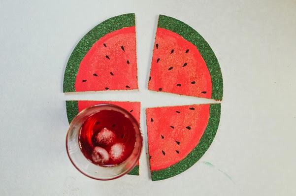 Descanso de copo em formato de melancia fa a voc mesmo - Manualidades originales y faciles ...