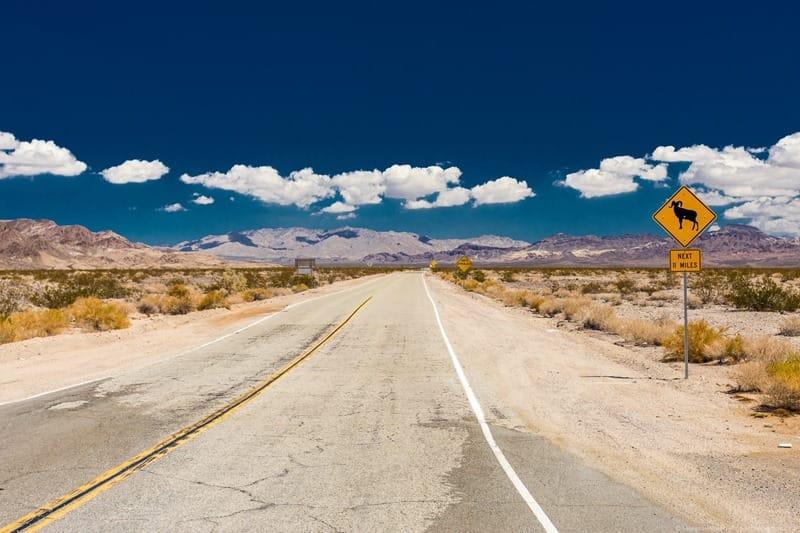 Route 66 California desert road