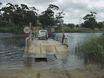 We crossed the Breede River on a ferry, where a couple of guys pulled us across by hand using the cable.