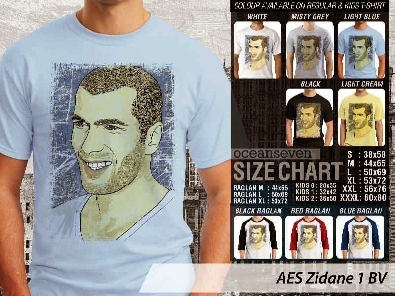 Kaos Zidane 1 Zinedine Zidane distro ocean seven