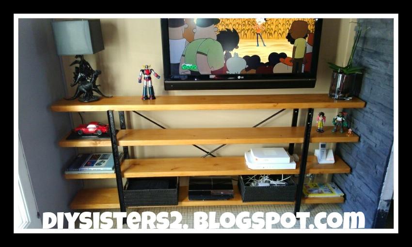 Diy sisters meuble tv type industriel - Meuble tv diy ...