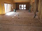March 31 Dining room, kitchen, pt of greatroom subfloor
