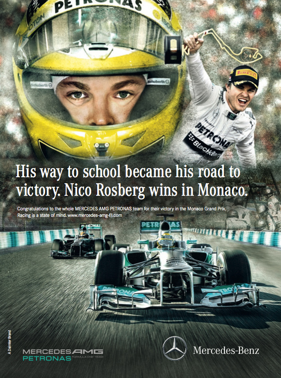 победный постер Нико Росберга на Гран-при Монако 2013