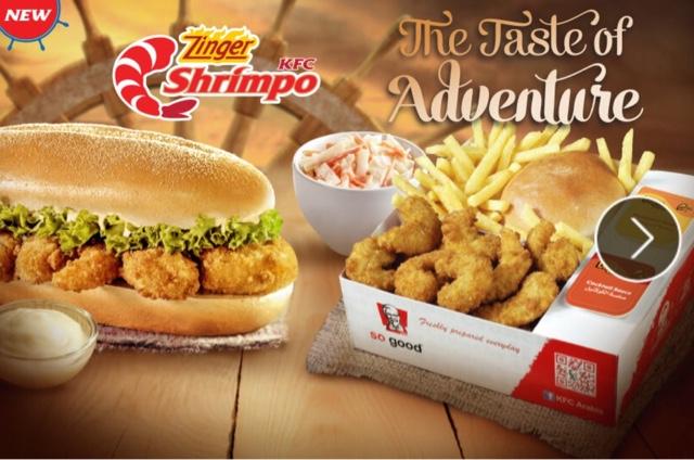 KFC Zinger Shrimpo Sandwich