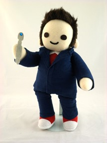 Cuddly Plush Tenth Time Traveler by Handmade Stuffs