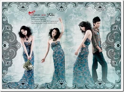 Floral design digital album template PSD