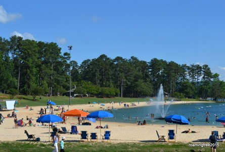 The beach at Callaway Gardens