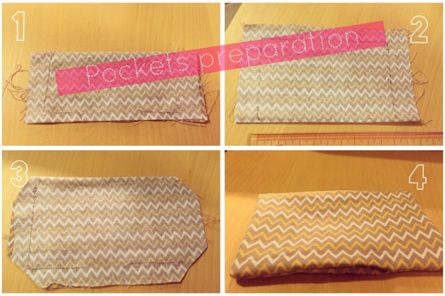 zigzag korean fabric pockets preparation