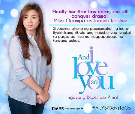 And I Love You So - Miles Ocampo as Joanna Ramirez