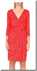 Diane von Furstenberg red silk wrap dress