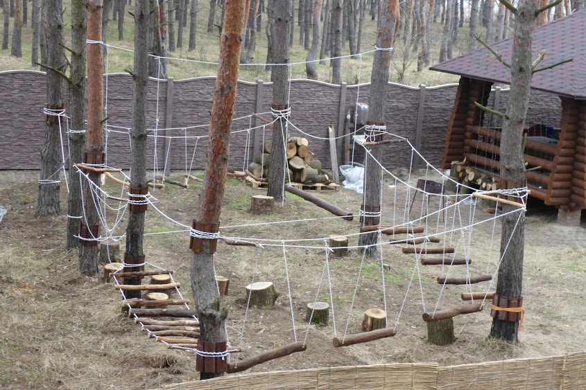 Как построить веревочный парк самим