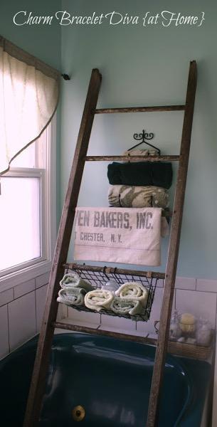 Charm bracelet ladder shelf