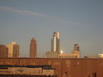 The Chicago skyline taken from the Amtrak window on the way home 01152012
