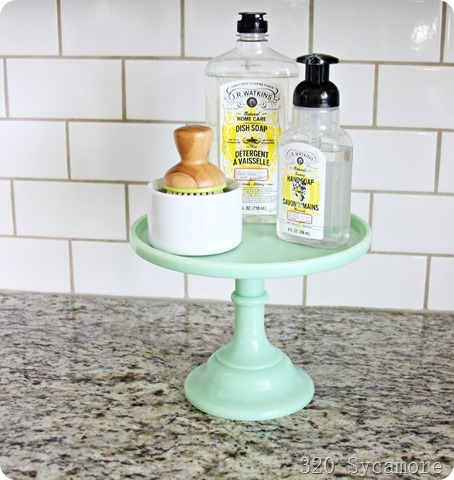 dish soap on pedestal kitchen