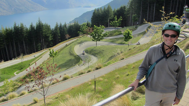 The luge course at the top of Bob's Peak. A local we met later on told is this is actually the most dangerous thing you can do in Queenstown!