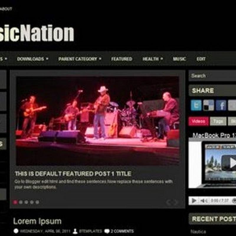 I migliori temi Blogger per creare un Blog dedicato alla Musica.