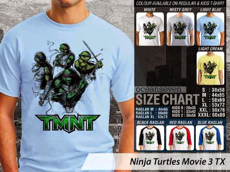 Kaos Movie Film Ninja Turtles Movie 3 distro ocean seven