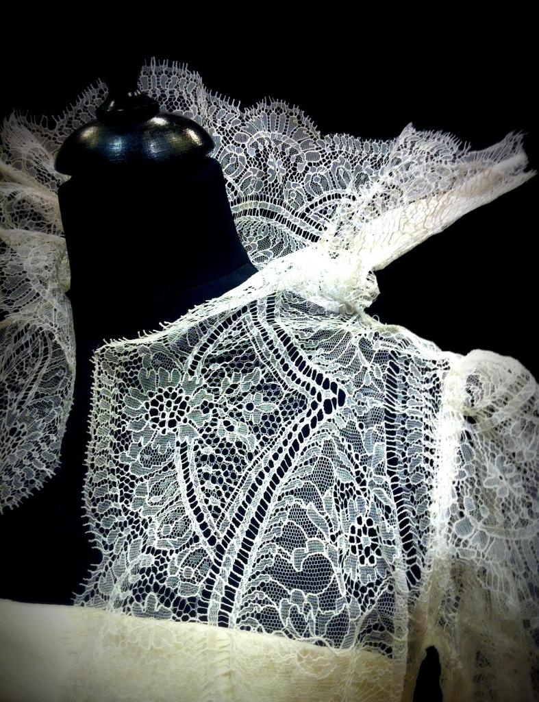 Detail, French lace jacket by