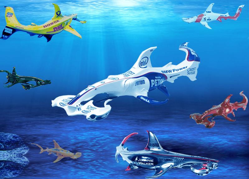 акулы Формулы-1 в море - фотошоп by pinnacle racing