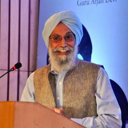 Prof Gurinder Singh Mann makes a point