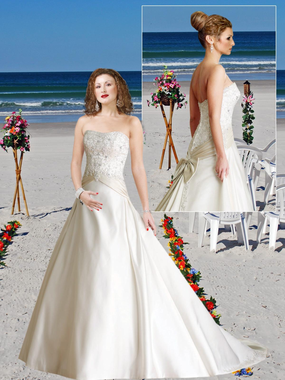 Lace Lace up Natural Waist Casual Wedding Gowns tw018.